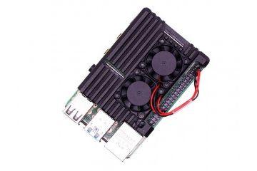 ohišja YAHBOOM Raspberry Pi 4B double fan armor case for 4B, YAHBOOM 6000300548