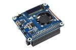 HATs WAVESHARE Power over Ethernet HAT (B) for Raspberry Pi 3B+ or 4B and 802.3af PoE network, Waveshare 18014